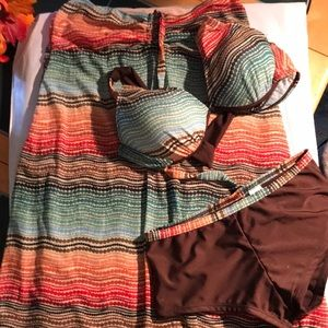 3 piece bathing suit